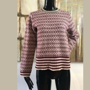 J. Crew 100% Wool Pullover Stripe Sweater Medium